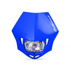 POLISPORT - Plaque Phare Mmx/S2 35W-12V Bleu/Avec Kit Vis