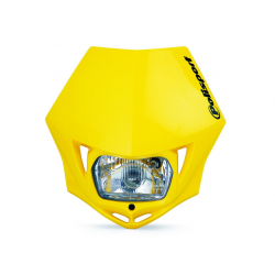 POLISPORT - Plaque Phare Mmx/S2 35W-12V Jaune/Avec Kit Vis