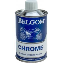 BELGOM - Chromes 250Ml - Idéal pour Désoxyder et faire Briller - Applique une Couche Protectrice - Simple et Efficace - Empêche la Corrosion