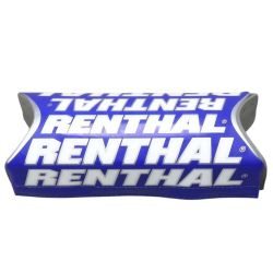 RENTHAL - Mousse Team Replica Bleu Pour Guidon Fatbar® - Mousse Grise Avec Habillage Couleur Bleu À Scratch