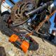 BLOKEO - Cordon De Rappel Pour Bloque Disque/Antivol L150cm Orange  Moto Scooter Quad