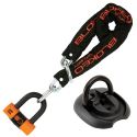 BLOKEO SECURITY - Kit Antivol Moto Chaîne 1,20M + Cadenas/Bloque-Disque MiniBlok + Ancre Fixation Sol - Classe SRA