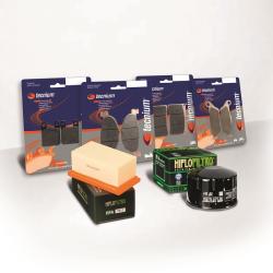 BIHR - Pack Entretien Compatible Yamaha Xt660 R 04-14 (Filtres Air Et Huile + Plaquettes Avant Et Ar)