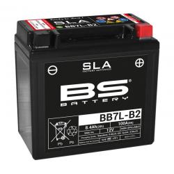 BS BATTERY - Batterie Moto 12V Sans Entretien activée usine BB7L-B2 SLA - 8,4Ah - L75Mm W135Mm H133Mm