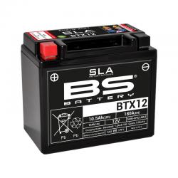 BS BATTERY - Batterie Moto 12V Sans Entretien activée usine BTX12 SLA - 10,5Ah - L87Mm W150Mm H130Mm