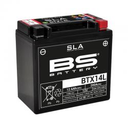 BS BATTERY - Batterie Moto 12V Sans Entretien activée usine BTX14L SLA - 12Ah - L87Mm W150Mm H145Mm