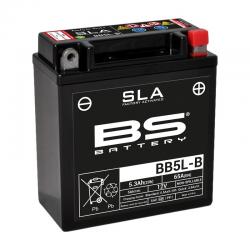 BS BATTERY - Batterie Moto 12V Sans Entretien activée usine BB5L-B  SLA - 5,3Ah - L60Mm W12Mm H13Mm