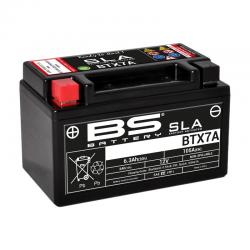 BS BATTERY - Batterie Moto 12V Sans Entretien activée usine BTX7A SLA - 6,3Ah - L87Mm W150Mm H93Mm