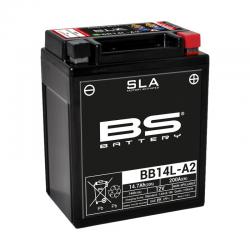 BS BATTERY - Batterie Moto 12V Sans Entretien activée usine BB14L-A2 SLA - 14,7Ah - L90Mm W135Mm H167Mm