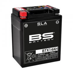 BS BATTERY - Batterie Moto 12V Sans Entretien activée usine BTX14AH SLA - 12Ah - L90Mm W133Mm H164Mm
