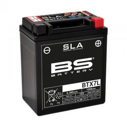 BS BATTERY - Batterie Moto 12V Sans Entretien activée usine BTX7L SLA - 6Ah - L70Mm W113Mm H130Mm
