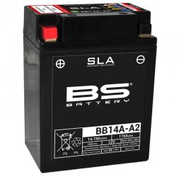 BS BATTERY - Batterie Moto 12V Sans Entretien activée usine BB14A-A2 SLA - 8,4Ah - L88Mm W134Mm H176Mm