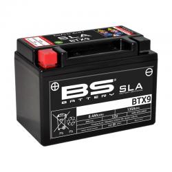 BS BATTERY - Batterie Moto 12V Sans Entretien activée usine BTX9 SLA - 8,4Ah - L87Mm W150Mm H105Mm