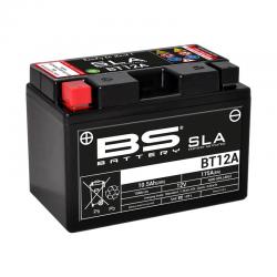 BS BATTERY - Batterie Moto 12V Sans Entretien activée usine BT12A SLA - 10Ah - L87Mm W15Mm H105Mm