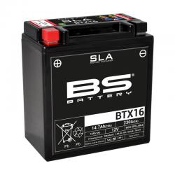 BS BATTERY - Batterie Moto 12V Sans Entretien activée usine BTX16 SLA - 14Ah - L87Mm W150Mm H161Mm
