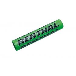 RENTHAL - Mousse De Guidon Moto Vert/Noir Sx® - Guidon Avec Barre 22Cm  - Mousse Grise Avec Habillage Couleur Vert/Noir À Scratch