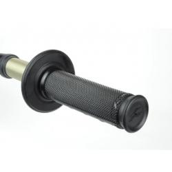 RENTHAL - Poignées Guidon Moto Ultra-Tacky Grips Half-Wafle Noir