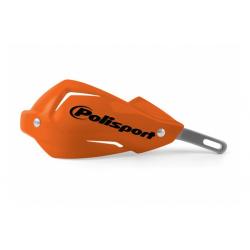 POLISPORT - Protège-Mains Moto Universel Touquet Orange Compatible Ktm/Renfort Alu
