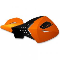 UFO - Protège-Mains Moto Cross Escalade Orange Noir