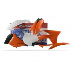 POLISPORT - Kit Plastiques Compatible Ktm 125 250 350 450 Sx/Sx-F 2012 Couleur Origine