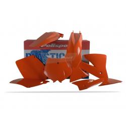 POLISPORT - Kit Plastiques Compatible Ktm 125/200/250/300 Exc 01-02 Couleur Origine