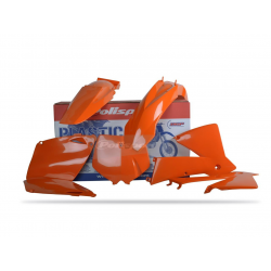 POLISPORT - Kit Plastiques Compatible Ktm 125/200/250/300 Exc 2003 Couleur Origine