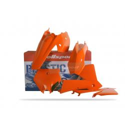 POLISPORT - Kit Plastiques Compatible Ktm 125/200/250/300 Exc 2004 Couleur Origine