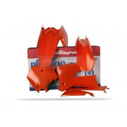 POLISPORT - Kit Plastiques Compatible Ktm 125/200/250/300 Exc 05-07 Couleur Origine