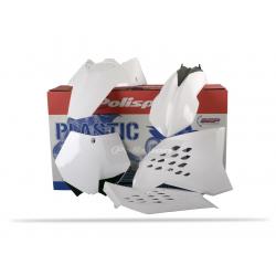 POLISPORT - Kit Plastiques Compatible Ktm 125 250 350 450 Sx/Sx-F 07-10 Couleur Blanc