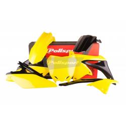 POLISPORT - Kit Plastiques Compatible Suzuki Rm-Z250 14-17 Couleur Origine