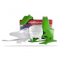 POLISPORT - Kit Plastiques Compatible Kawasaki Kx125/250 99-02 Couleur Origine