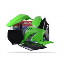 POLISPORT - Kit Plastiques Compatible Kawasaki Kx250F 06-08 Couleur Origine
