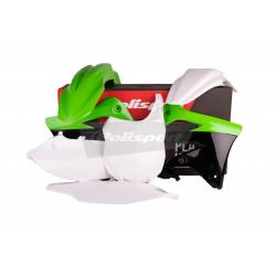 POLISPORT - Kit Plastiques Compatible Kawasaki Kx450F 13-15 Couleur Origine Blanc