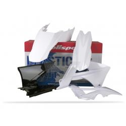 POLISPORT - Kit Plastiques Compatible Gas Gas 125 250 300 Ec 2011 Blanc/Noir/Blanc