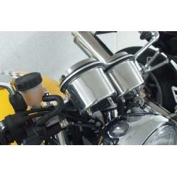 DESTOCKAGE - LSL - Cache Compteur Aluminium Compatible Triumph Bonneville_ Café Racer_Vintage