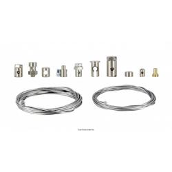 KYOTO - Kit De Réparation Cable Différent Serre Cables Et Deux Cables 2 Metres En Ø1.5 Et 1.2