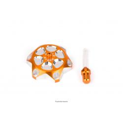 KYOTO - Bouchon Réservoir Moto Compatible Ktm Orange Tm Hva Diam. 47,5Mm