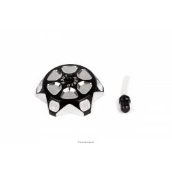 KYOTO - Bouchon Réservoir Moto Compatible Yamaha -02 Noir Yz85-250/Wr250-450 Diam. 62,5Mm