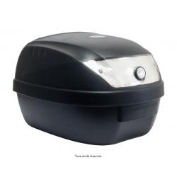 S-LINE - Top Case Moto 28L Noir Mat Dim : 39X39X29Cm (1 Casque) Livré Avec Platine