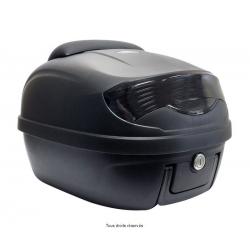 S-LINE - Top Case Moto 29L Noir Mat Dim 40X40X31Cm(1 Casque) Platine, Dosseret Et Poignée