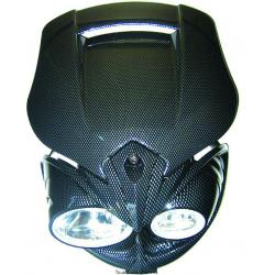 KYOTO - Plaque Phare Moto Eagle Eye Carbone