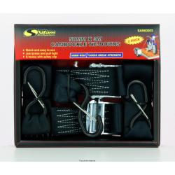 Sangle 2pcs Avec Crochets Sécu 50mm X 3 Mètres Résistance 750 Kg