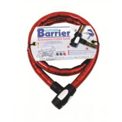 OXFORD - Antivol Câble Barrier 1.5M X 25Mm Rouge