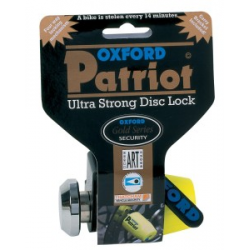 OXFORD - Antivol Moto Bloque Disque Patriot 14Mm ART4 Jaune