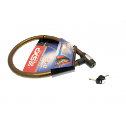 SXP LOCK - Antivol Moto Câble 1M20 En Acier Articulé 25Mm