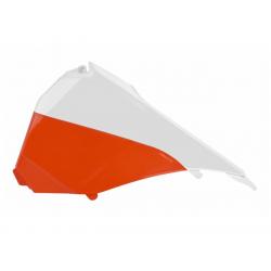 POLISPORT - Cache Boite Air Sx/Sx-F 125 &+ 13-15 Blanc-Orange/Coul.Orig.15