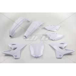 UFO - Kit Plastique Complet Compatible Yamaha 125 250 Yz 15-17 / White Blanc