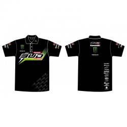 Polo Team Bud Racing Monster Energy Staff Kawasaki 2016 Noir