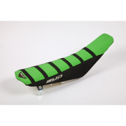 BUD RACING - Housse Selle Full Compatible Kawasaki 250 Kxf 13-18 + 450 Kxf 12-18 Vert Noir
