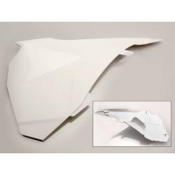 UFO - Cache Boîte Air Gauche Blanc Compatible Ktm 85 Sx 13-17